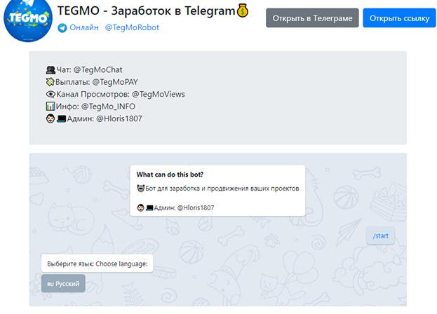 Телеграмм бот TegMo